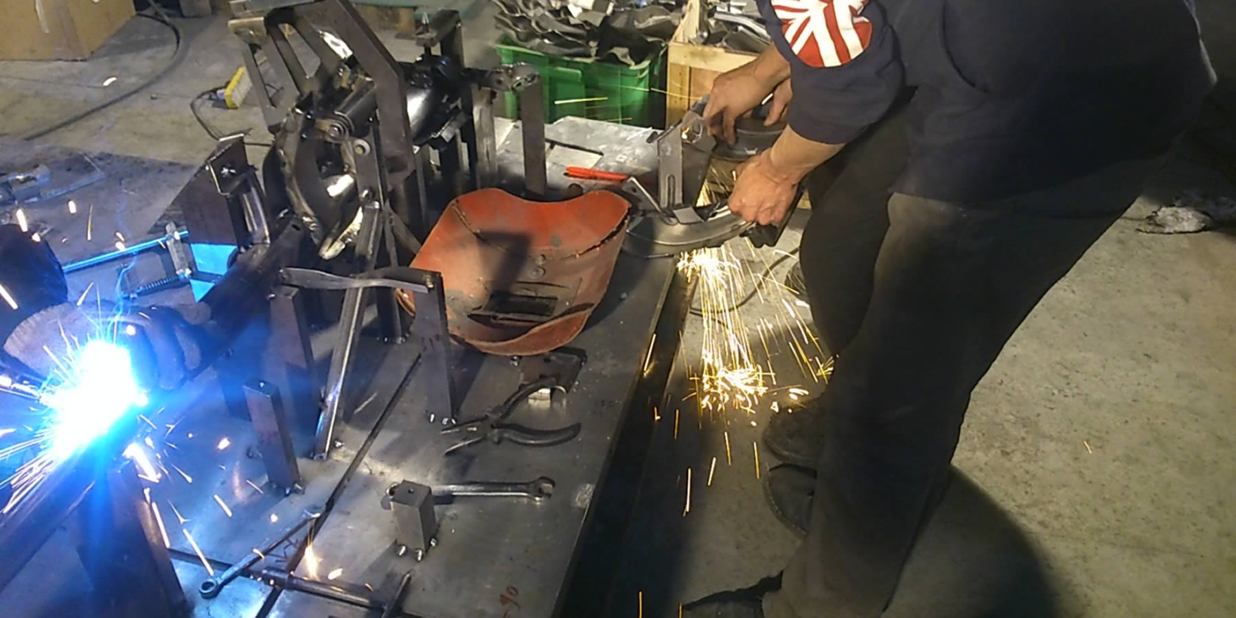 Welding work of the assembly